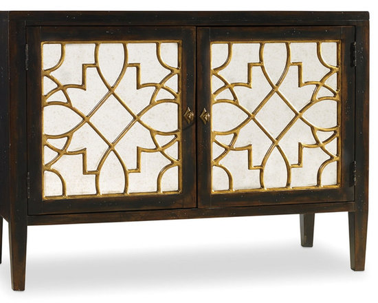 Hooker Furniture Living Room Sanctuary Two Door Mirrored Console - Hooker Furniture Living Room Sanctuary Two Door Mirrored Console -- a beautiful reflection of your style.