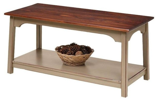Farmhouse Shaker Coffee Table In Pine Wood Farmhouse Coffee Tables