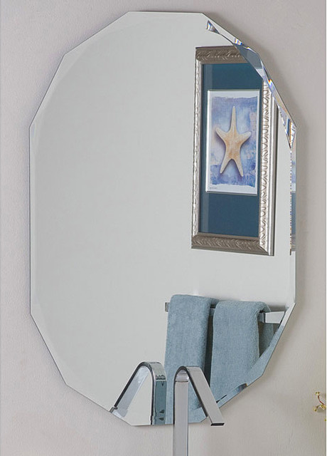 Frameless Diamond Wall Mirror contemporary-wall-mirrors
