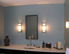 Is it a mistake to mix brushed nickel and oil rubbed bronze fixtures in an open floor plan?