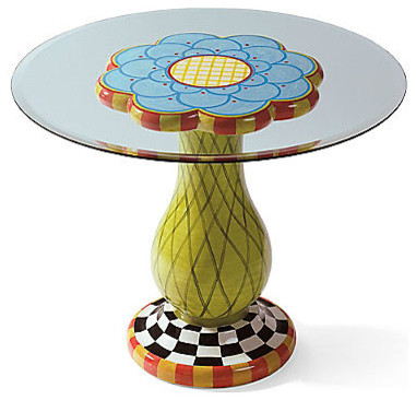 Hand-Painted Flower Table - Eclectic - Outdoor Side Tables - by Grandin Road