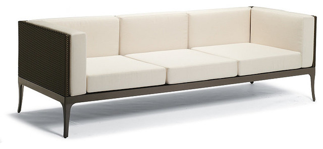 Ibiza Outdoor Sofa with Cushions, Patio Furniture traditional-outdoor-sofas