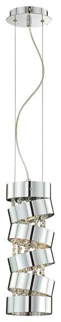 "Contemporary Ariella 16 1/2"" High Chrome Pendant Light contemporary-pendant-lighting"
