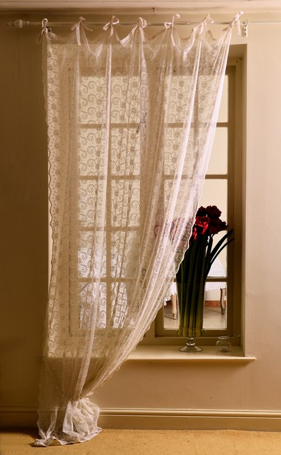 Embroidered Lace Curtain Panels From Scandinavia Country