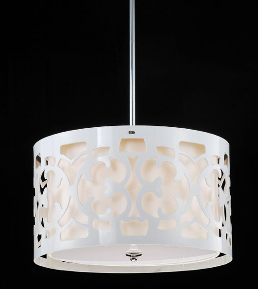 Hermosa White 3-light Pendant Chandelier contemporary-chandeliers