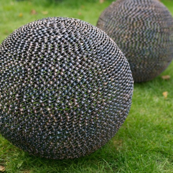 Garden Sphere contemporary garden sculptures