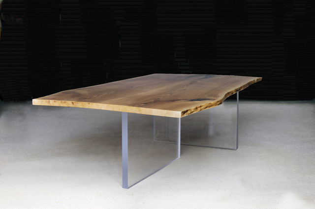 Bookmatched Butternut Coffee Table modern-coffee-tables