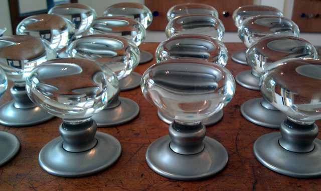 Oval glass knobs - Contemporary - Cabinet And Drawer Knobs - other ...