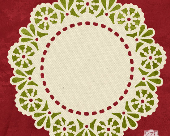 Margaret Lace Doily Christmas Stencil -