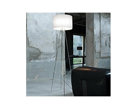 Ray F Floor Lamp By Flos Lighting - Ray F1 and Ray F2 by Flos are new floor lamps designed by Rodolfo Dordoni.