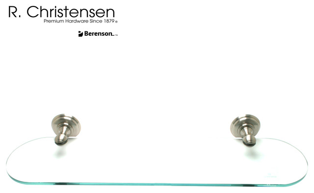 2125US15 Brushed Nickel Oval Glass Shelf by R. Christensen traditional ...