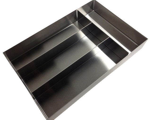 Compartment stainless steel cutlery tray modern