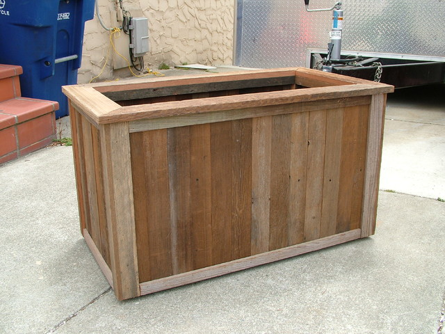 Examples of Custom Redwood Planters eclectic
