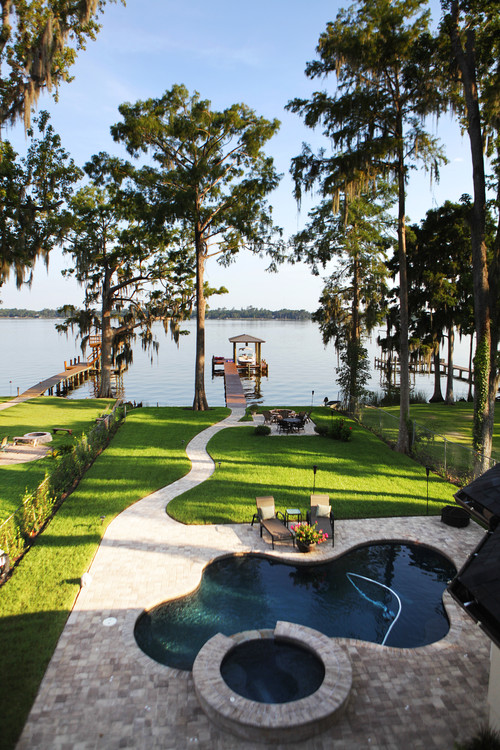 Mediterranean Landscape by Jacksonville Design-Build Firms Dreambuilder Custom Homes