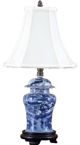 Blue And White Jar Lamp Asian Table Lamps By Shan