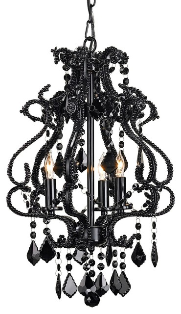 Currey and Company Valentina Chandelier Small eclectic chandeliers