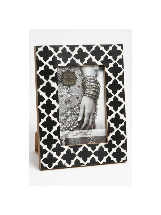 Argento SC 'Balangir' Picture Frame - My fiancé and I are having our engagement pictures taken soon, and I'd like to get a few nice frames to display some of the shots around our home. I love the black and white color combination, and I really like the Moroccan-inspired pattern.