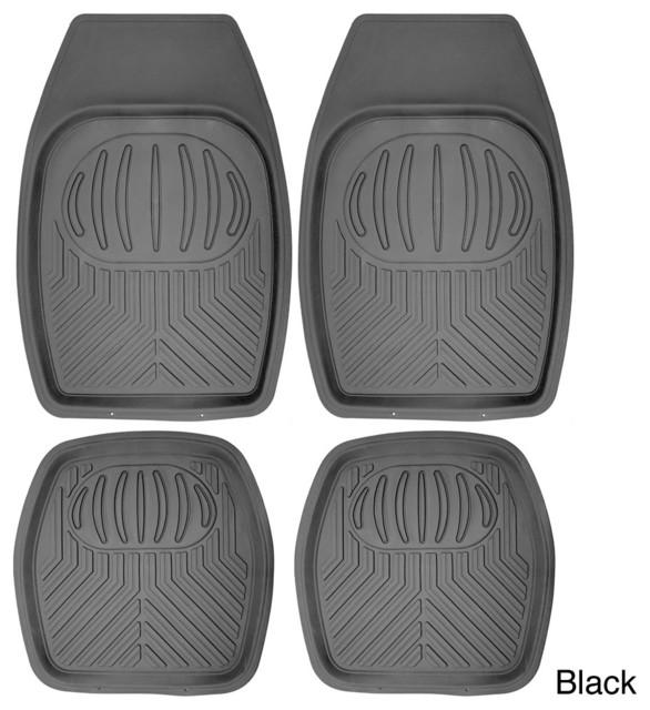 Oxgord Bear Claw Style Rugged 4-piece PVC Floor Mats Set contemporary-bath-mats