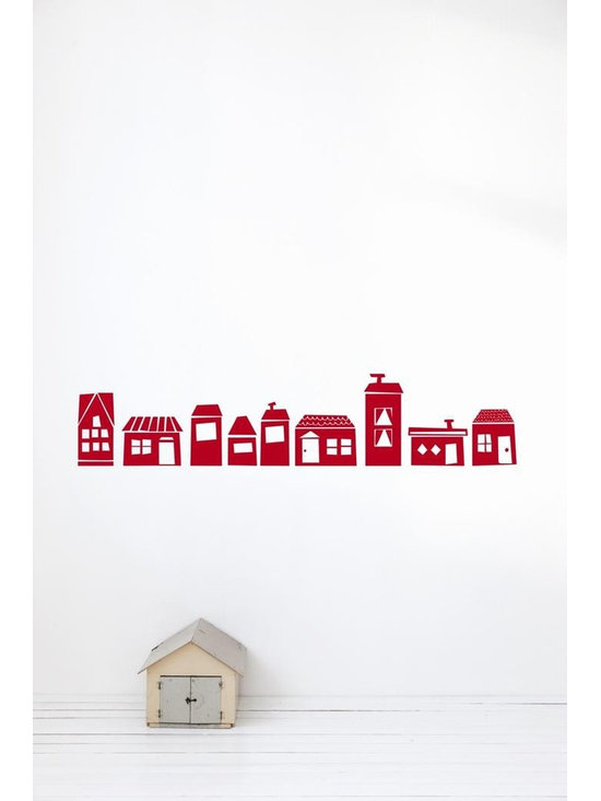 Ferm Living The Village WallSticker - Ferm Living The Village WallSticker