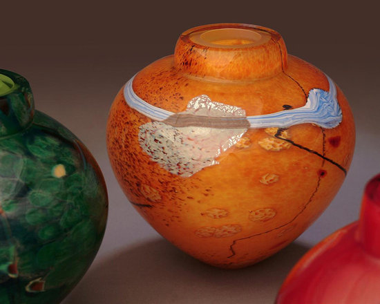 """Solinglass - Emperor Bowl Grouping    6.5"""" x 7"""" each - Emperor Bowl Groupping... Various colors... each piece is one of a kind"""