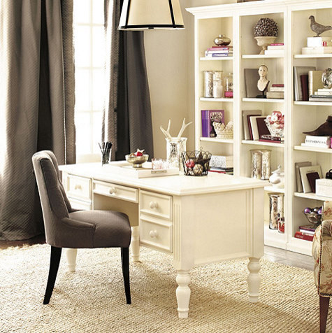 Home Office Ensemble 3-Drawer Desk - Traditional - Desks And Hutches ...