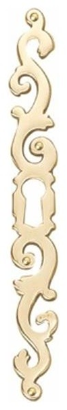 Richelieu Hardware Left Brass Keyhole Plate 137mm Brass Finish contemporary-home-improvement