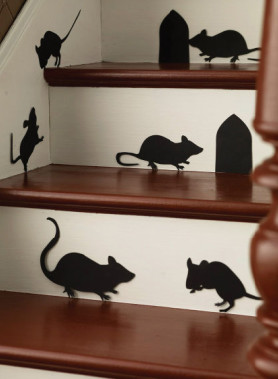Halloween Mice Silhouettes contemporary decals