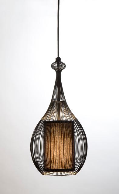 paavo pendant black with black fabric shade