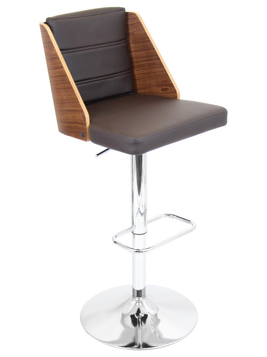 Galanti Bar Stool - WALNUT/BROWN