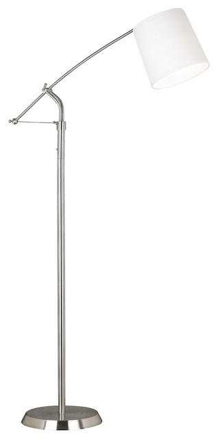 Kenroy Reeler Brushed Steel Balance Arm Floor Lamp contemporary-floor-lamps