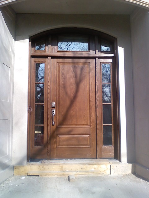 Oak Grain Doors Traditional Front Doors