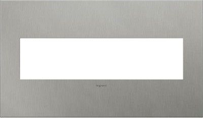 Legrand adorne Brushed Stainless Steel, 4-Gang, Wall Plate - AWC4GBS4 - Contemporary - Switch ...