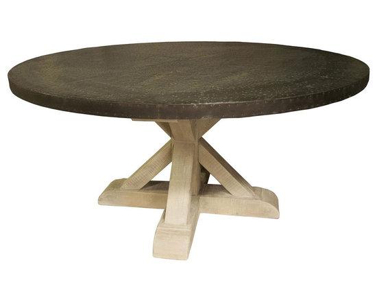 Noir Zinc Vintage Round Table - Noir Zinc Vintage Round Table.
