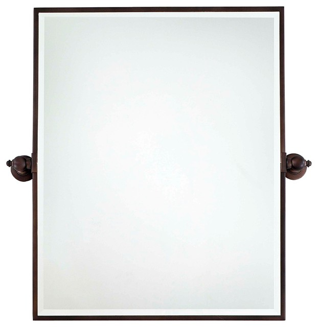 Traditional Minka 30 High Xl Dark Brushed Bronze Bathroom Wall Mirror Traditional Bathroom