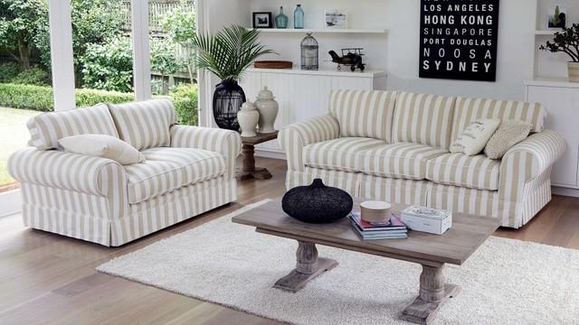 Matilda 3 Seater Fabric Sofa Traditional Sofas By Harveynorman