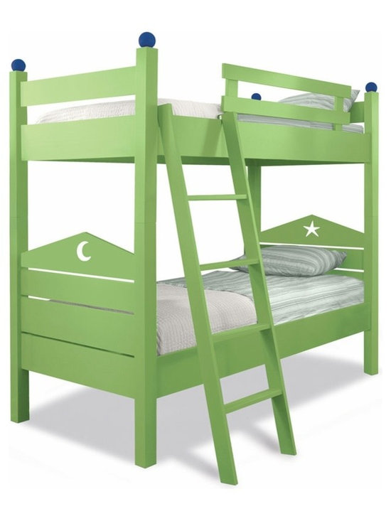 Dory Bunk Bed With Custom Accents - Made by Maine Cottage, these bunk beds can be customized in several great styles and colors.