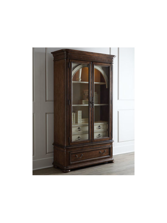 Horchow - Coleman Curio/China Cabinet - Beautiful curves and elegant fluting are the hallmarks of this impressive dining room furniture. Designed to endure, it is elegant enough for the most formal of events while being inviting enough for more intimate gatherings. Handcrafted of pine with a...