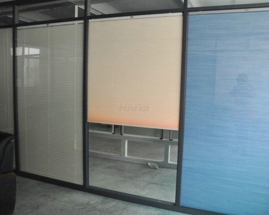 Insulated Glass with Electric Cellular Shades - This blind is assembled and permanently sealed within the double glazing, separately and synchronously by remote control. Being applied with aluminum alloy, PVC, wooden Windows and Doors and Glass Curtain Wall, and it can also be available in partitions combined with marble and so on.