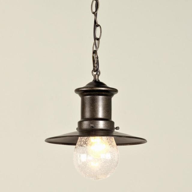 Outdoor Bulb Glass Nautical Pendant