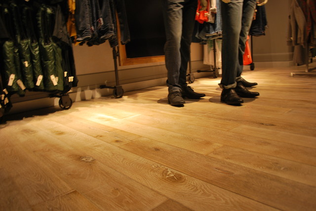 Flooring for The Hudson's Bay Co. Men's Department Downtown Vancouver contemporary