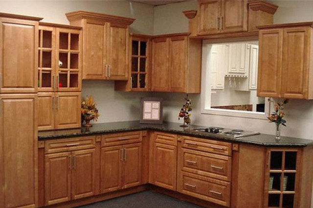 Cinnamon Maple Kitchen Cabinets Home Design  Traditional  Kitchen