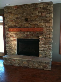 Rustic Oak Cabinetry with Reclaimed Barn Beam Accents - Rustic ...