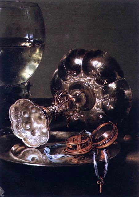 """Willem Claesz Heda The Breakfast Table with Blackberry Pie (detail) - 16"""" x 24"""" traditional-artwork"""