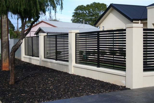 modern fencing modern home fencing and gates adelaide by hindmarsh fencing wrought. Black Bedroom Furniture Sets. Home Design Ideas
