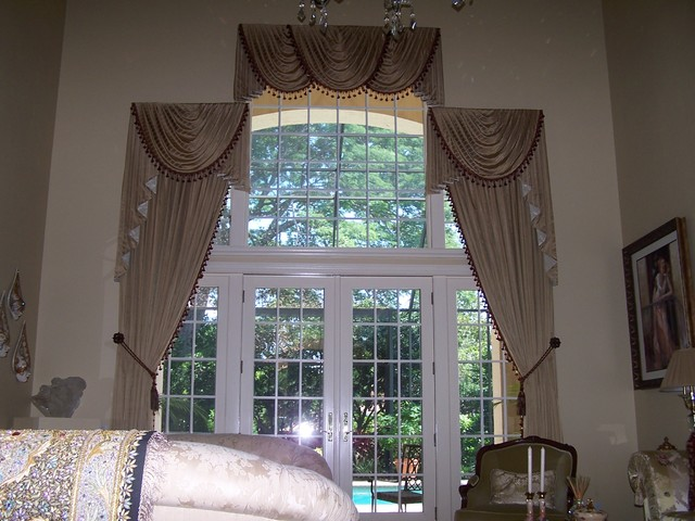 Two Story Living Room Traditional Curtains Tampa By Equinox Interiors
