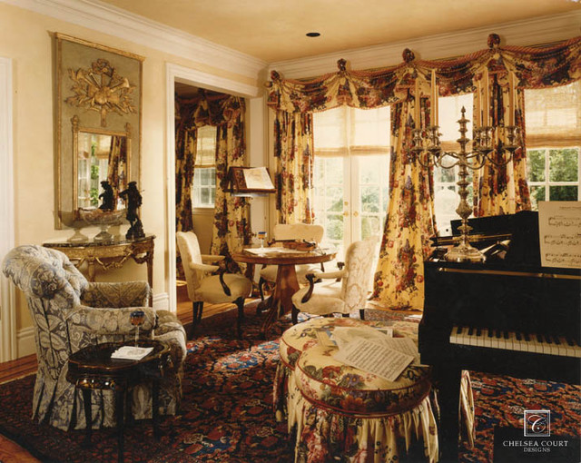 Traditional Music Room traditional-living-room