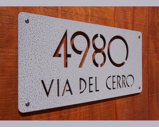 CUSTOM Euro Deluxe Address Sign in Powder Coated Aluminum -