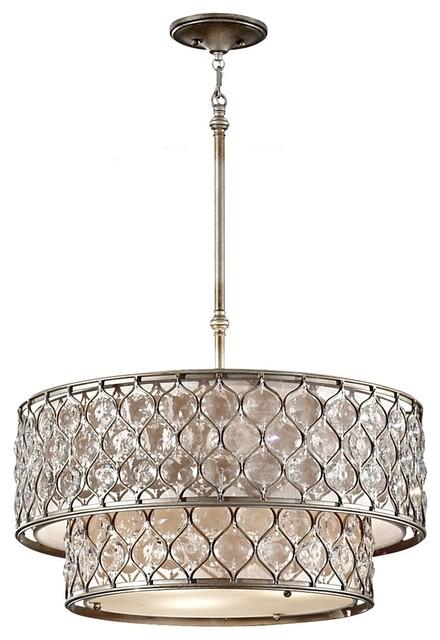 Put the Bling in Lighting transitional-pendant-lighting