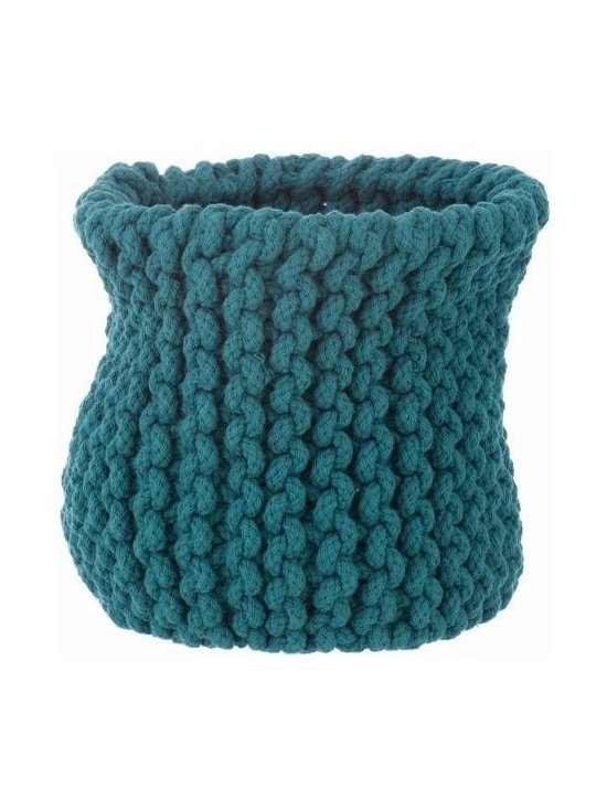 Ferm Living Knitted Basket - Need a fun alternative fruit basket or a new holder for your magazines and newspapers? The Ferm Living Basket's are hand-knitted and made of 100% cotton rope.