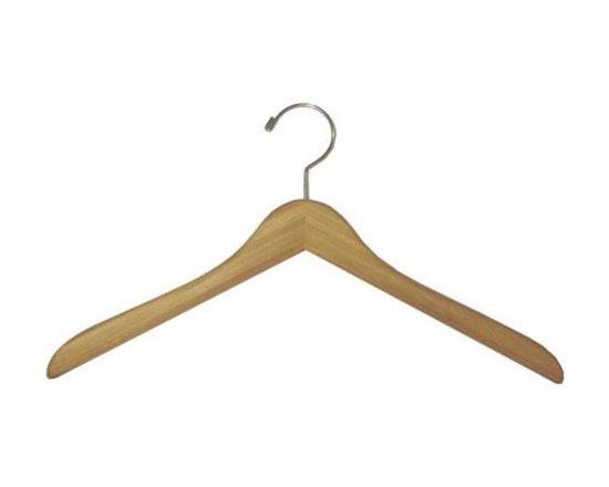 """17"""" Bamboo Flat Garment Hanger - Box of 100 hangers."""